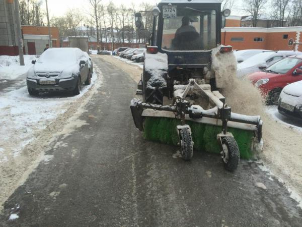 Уборка снега. Январь 2015 года